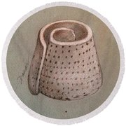 Whorl - Shell With Polka Dot Pattern - Sketch Round Beach Towel