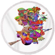 Martin-hardy-witches Round Beach Towel