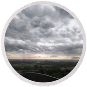 Wicked Clouds Round Beach Towel