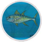 Wicked Tuna  Round Beach Towel