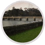 Wicklow Footbridge Round Beach Towel
