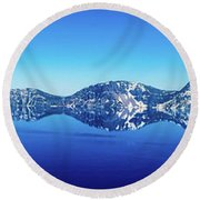 Wide Crater Lake Round Beach Towel