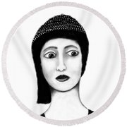 Wide Eyes Surprise Round Beach Towel