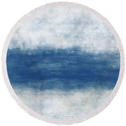 Wide Open Ocean- Art By Linda Woods Round Beach Towel