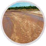Wide Thwake River Round Beach Towel