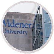 Widener University - Metropoliton Hall Round Beach Towel
