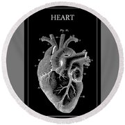 Widow Maker Heart 2 Round Beach Towel