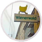 Wienerwald In Salzburg Round Beach Towel