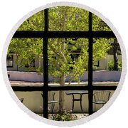 Wiew Out The Window Round Beach Towel