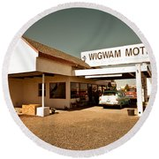 Wigwam Motel Round Beach Towel