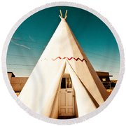 Wigwam Room #3 Round Beach Towel