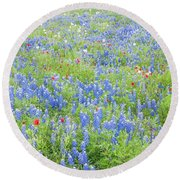 Wild About Wildflowers Of Texas. Round Beach Towel
