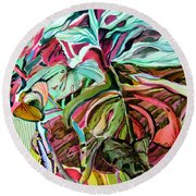 Wild And Grace Filled Round Beach Towel