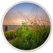 Wild At Sunrise Round Beach Towel