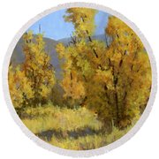 Wild Autumn Round Beach Towel