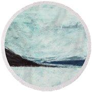 Wild Blue Yonder Round Beach Towel