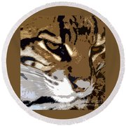 Wild Cat Round Beach Towel