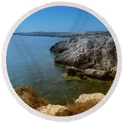 Wild Coast Cyprus Round Beach Towel