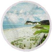 Wild Coastline Round Beach Towel