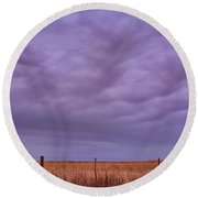 Wild Country Sky Round Beach Towel