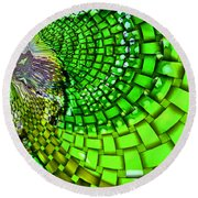 Wild Curves Abstract Round Beach Towel