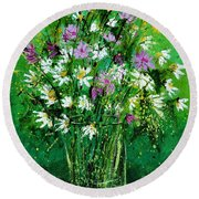 Wild Flowers 450150 Round Beach Towel