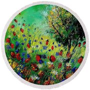 Wild Flowers 670130 Round Beach Towel