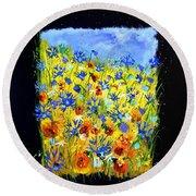 Wild Flowers 677130 Round Beach Towel