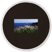 Wild Flowers And Iceberg Round Beach Towel