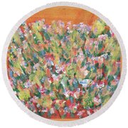 Blooming With Joy Round Beach Towel