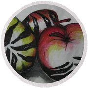 Wild Fruits  Round Beach Towel