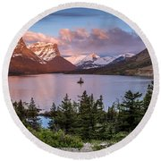 Wild Goose Island Morning 1 Round Beach Towel