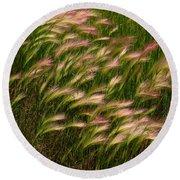 Wild Grasses Round Beach Towel