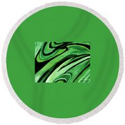 Wild Green Round Beach Towel