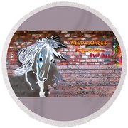 Wild Horses For Sale Round Beach Towel