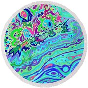 Wild Island 1 And 2 Combined Round Beach Towel