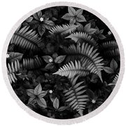 Wild Plants Round Beach Towel
