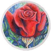 Wild Rose One Round Beach Towel