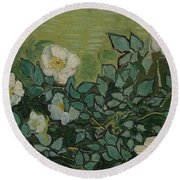 Wild Roses Saint-remy-de-provence, May-june 1889 Vincent Van Gogh 1853 - 1890 Round Beach Towel