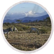 Wild Samburu Round Beach Towel
