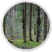 Wild Spring Forest Round Beach Towel