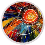 Wild Sunflower 2 Round Beach Towel