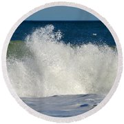 Wild Waves Round Beach Towel