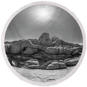 Wild West Rocks Round Beach Towel