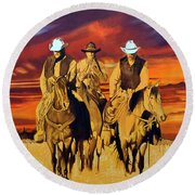 Arizona Sunset Round Beach Towel