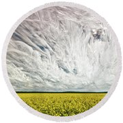 Wild Winds Round Beach Towel by Matt Molloy