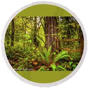 Wild Wonder In The Woods Round Beach Towel