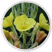 Wild Yellow Round Beach Towel