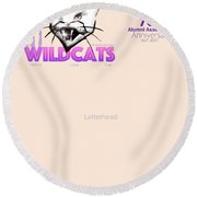 Wildcat Letter Head Round Beach Towel