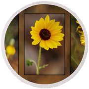 Wildflower 3 Round Beach Towel